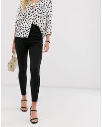 ASOS Super Skinny Ponte Pant With Zips - Black