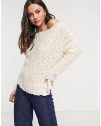 Glamorous Loose Knit Jumper - Natural