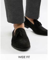 ASOS Wide Fit Tassel Loafers - Black
