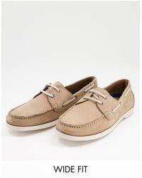 Dune Серо-коричневые Кожаные Ботинки Для Широкой Стопы Buoyance-коричневый Цвет