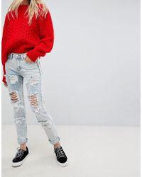 Glamorous Jean skinny déchiré - Bleu