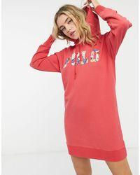 Polo Ralph Lauren – es Kapuzenkleid mit Logo - Rot