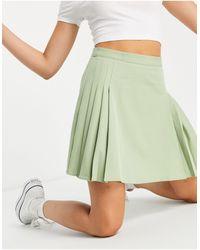 Lola May Pleated Tennis Mini Skirt - Green