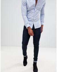 ASOS Super Skinny Jeans In Raw Blue