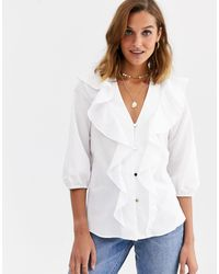 River Island - Frilled Blouse - Lyst