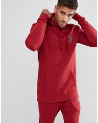 11 Degrees - Hoodie In Red - Lyst