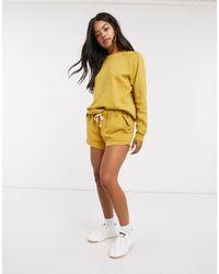 Rip Curl Organic Co-ord Fleece Short - Yellow