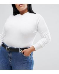 ASOS - Asos Design Curve Tipped End Circle Buckle Jeans Belt - Lyst