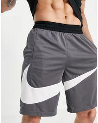 Nike Basketball Swoosh Logo Shorts - Grey