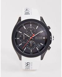 BOSS by Hugo Boss 1513718 Velocity Athleisure - Silicone Horloge - Wit