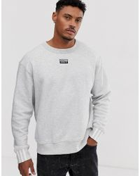 Ryv Sweatshirt In Grey With Central Logo Gray
