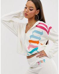 Juicy Couture Hoodie en tissu éponge avec logo gothique - Blanc