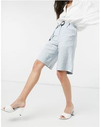 Native Youth Pantaloncini taglio lungo con cintura - Blu