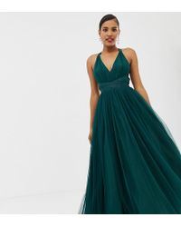 ASOS - Premium Tulle Maxi Prom Dress With Ribbon Ties - Lyst