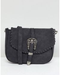 Yoki Fashion - Large Wester Clasp Cross Body Bag - Lyst