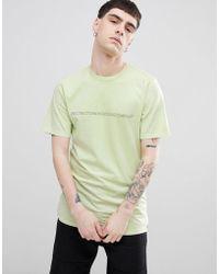 Volcom - Spyral T-shirt With Skateboarding Logo In Green - Lyst