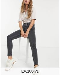 Weekday Body High Waist Super Skinny Jeans With Organic Cotton - Black