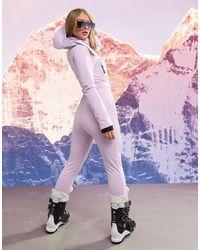 ASOS 4505 Горнолыжный Облегающий Комбинезон С Поясом И Капюшоном Ski-фиолетовый - Пурпурный