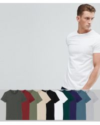 ASOS DESIGN - Crew Neck T-shirt 10 Pack Save - Lyst