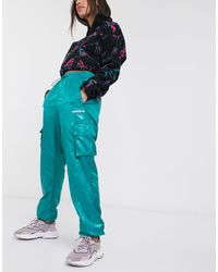 adidas Originals Зеленые Брюки В Стиле Милитари -фиолетовый - Зеленый