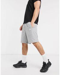 Nike Серые Трикотажные Шорты 804419-063-серый