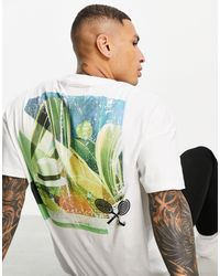 Liquor N Poker Camiseta blanca con estampado Tennis Club - Blanco