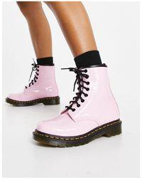 Dr. Martens - Розовые Лакированные Ботинки 1460-розовый Цвет - Lyst