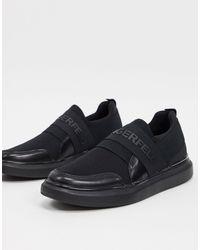 Karl Lagerfeld - Branded Logo Mesh Slip On Sneakers - Lyst