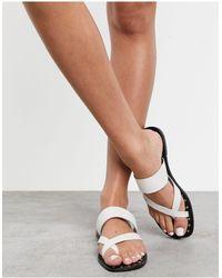 ALDO Toe Loop Sandals - White