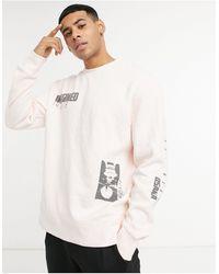 TOPMAN Imagined Print Sweat - Pink