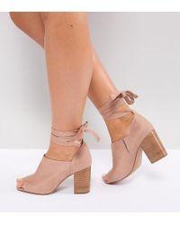 ASOS - Asos Omen Wide Fit Tie Leg Heeled Shoes - Lyst