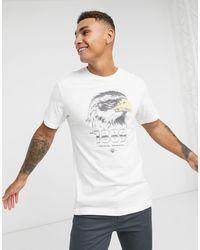 Lee Jeans T-shirt à imprimé motard - Blanc