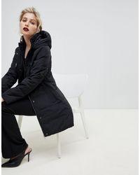 Oasis Longline Padded Jacket - Black