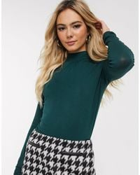 Oasis Top With High Neck - Green