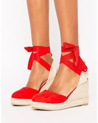 Pimkie Espadrille Lace Up Wedge Sandal - Metallic