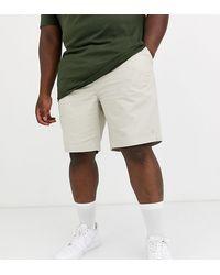 Polo Ralph Lauren Big & Tall - Prepster - Chino grigio pietra corti con logo