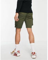 Only & Sons Pantalones cortos cargo en caqui - Verde