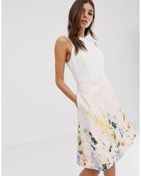 Ted Baker Платье С Принтом Kalla - Белый
