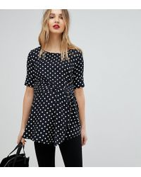 Isabella Oliver - Polka Dot Top With Wrap Tie Waist - Lyst