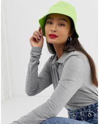 ASOS Cotton Bucket Hat - Green
