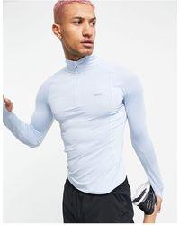 ASOS 4505 Running Long Sleeve T-shirt With 1/4 Zip - Blue