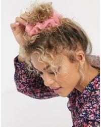 Pieces Haarscrunchie - Roze