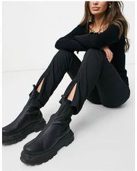 Vero Moda Zip Front Trousers - Black