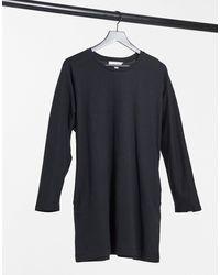Miss Selfridge Платье-футболка Цвета Хаки С Длинными Рукавами -зеленый Цвет
