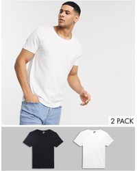 ASOS 2 Pack T-shirt With Scoop Neck Save - White