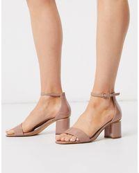 ALDO Valentina Mid Heel Sandal - Natural