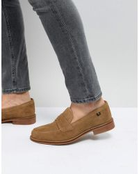 Farah Chalice Suede Loafers - Natural