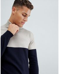 French Connection 100% Cotton Roll Neck Sweater - Multicolor