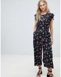 Vero Moda - Floral Minimal Jumpsuit - Lyst