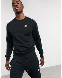 New Balance - Small Logo Sweatshirt - Lyst